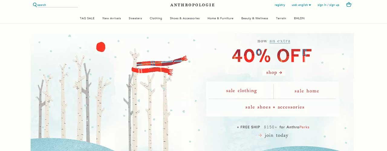 Парсер товаров онлайн магазина Anthropologie.com