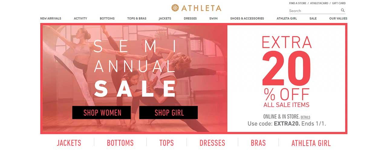 Бесплатный парсер магазина Athleta Gap
