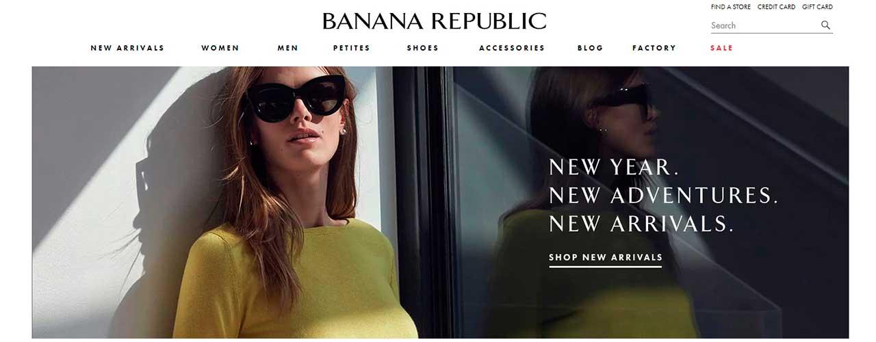 Бесплатный парсер товаров онлайн магазина Banana Republic